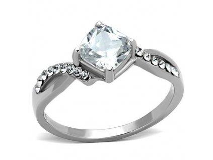 PR6389ZOC ocelovy prsten so zirkonmi