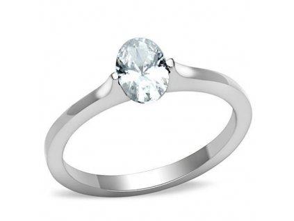 PR6390ZOC ocelovy prsten so zirkonom