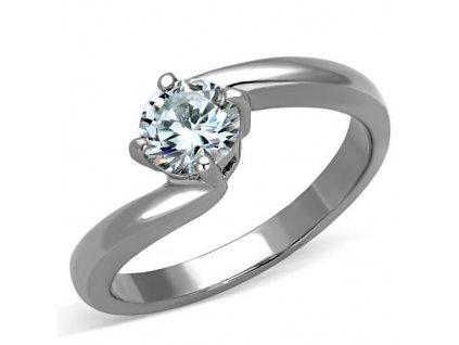PR6391ZOC prsten z chirurgickej ocele so zirkonom