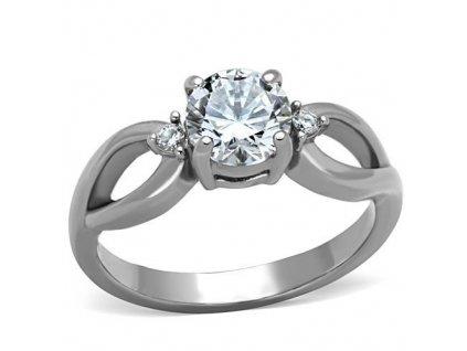 PR6392ZOC prsten z chirurgickej ocele so zirkonmi