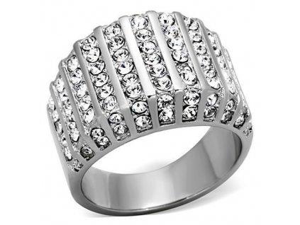 PR6398ZOC prsten z chirurgickej ocele so zirkonmi