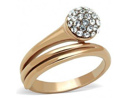 PR6411ZGOC ocelovy prsten so zirkonmi