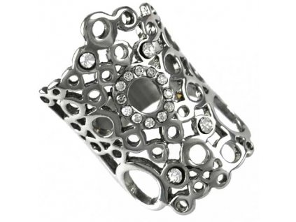 PR6456ZOC Prsteň z chirurgickej ocele so zirkónmi