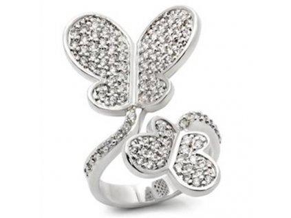 prsten zirkony motyle