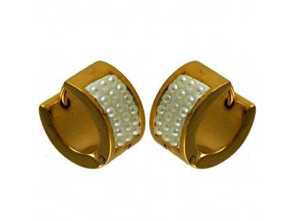NA3598PGOC pozlatene ocelove nausnice s perlami