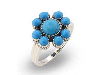 PR5009ZSSR strieborny prsten s tyrkysom