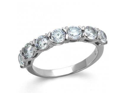 PR6486ZOC ocelovy prsten so zirkonmi