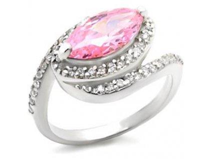 PR0435ZSS strieborny prsten so zirkonmi