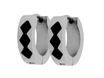 NA3636OC kruzky ocelove nausnice cierny vzor