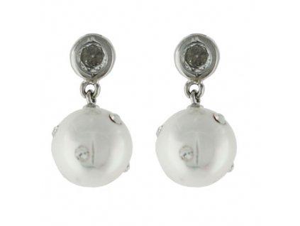 NA9128ZPSS strieborne nausnice perly zirkony
