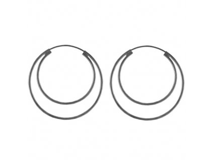 NA9132SS strieborne kruhy nausnice