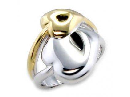 PR4069GR pozlateny rhodiovany prsten