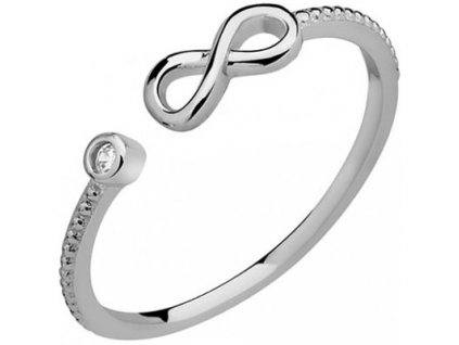 PR7015ZRSS Infinity  Strieborný prsteň so zirkónom