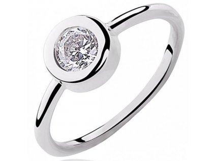 PR7020ZSS Strieborný prsteň so zirkónmi