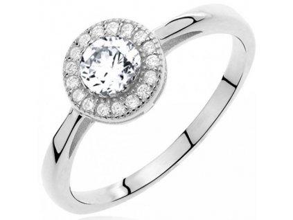 PR7123ZSS Strieborný prsteň so zirkónmi