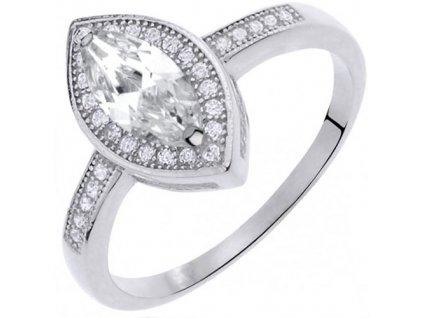 PR7124ZSS Strieborný prsteň so zirkónmi