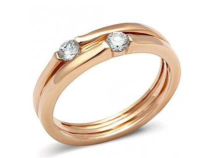 PR8043ZGOC pozlateny ocelovy prsten so zirkonmi