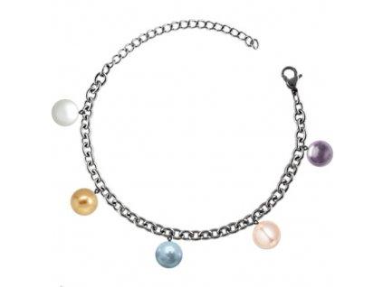 NR3296SWPOC ocelovy naramok so swarovski perlami