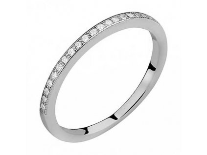 PR7128ZSS Jemný strieborný prsteň so zirkónmi