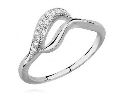 PR7136ZSS Strieborný prsteň so zirkónmi