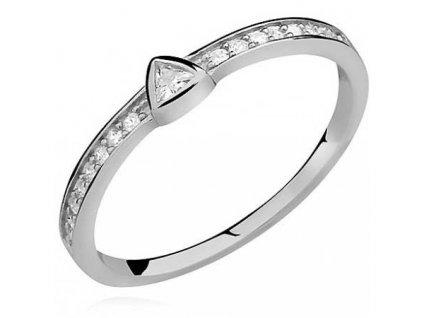 PR7150ZSS Strieborný prsteň so zirkónmi