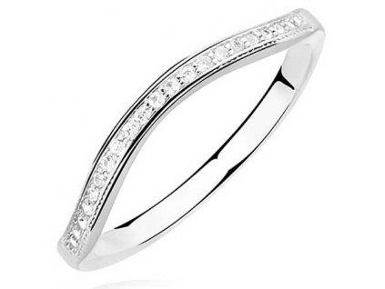 PR7151ZSS Strieborný prsteň so zirkónmi