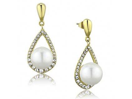 NA3660ZGPOC ocelove nausnice s perlami zirkonmi