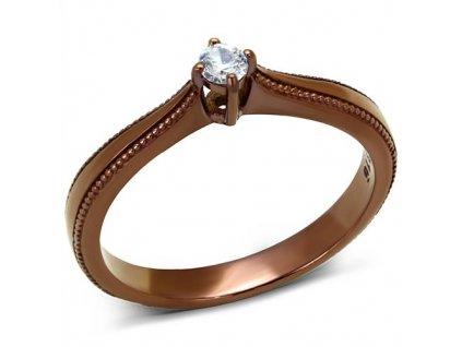 PR8056ZOC Oceľový prsteň so zirkónom