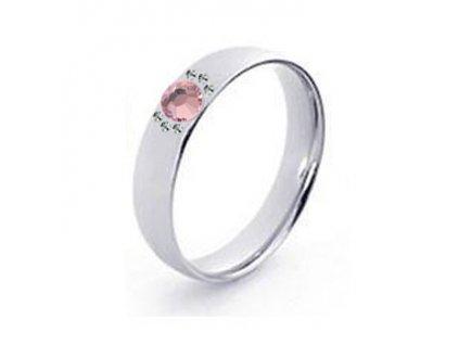 PR8082SWOC Oceľový prsteň so Swarovski krištálmi