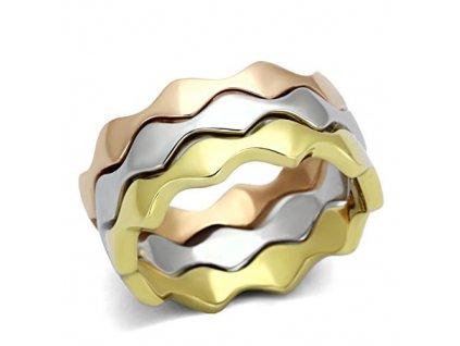 PR8108GOC Trojitý prsteň z chirurgickej ocele