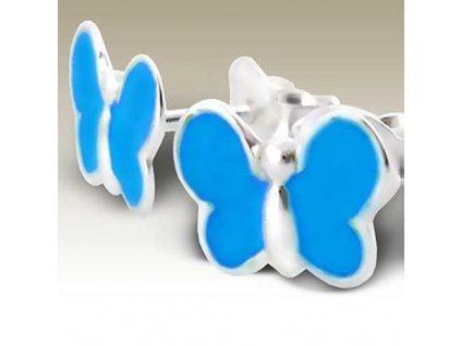 NA015D detske nausnice strieborne motyliky