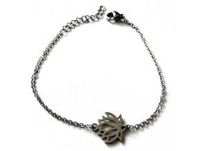 NR3381OC damsky ocelovy naramok lotos