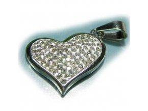 PV3105OC srdce privesok z chirurgickej ocele