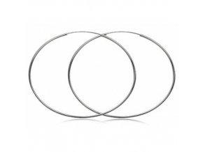 NA9721SS strieborne kruhy 8cm