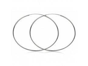 NA9720SS damske strieborne kruhy nausnice 7cm