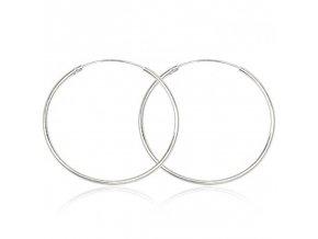 NA9717SS strieborne kruhy damske nausncie 4cm