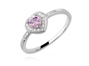 PR7162ZSS Srdiečko - strieborný prsteň