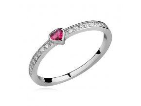 PR7161ZSS Srdiečko - strieborný prsteň