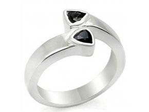 PR4207ZSS strieborny prsten so zirkonmi