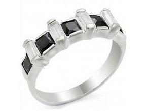 PR4253ZSS - Strieborný prsteň so zirkónmi