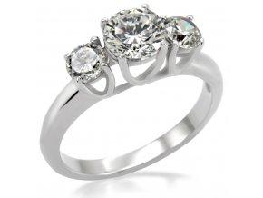 PR1226ZOC prsten z chirurgickej ocele so zirkonmi
