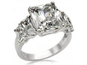 PR1227ZOC prsten z chirurgickej ocele so zirkonmi
