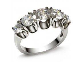 PR1229ZOc prsten z chirurgickej ocele so zirkonmi