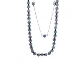 LNH0049 perlovy strieborny nahrdelnik misaki