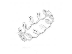 PR7169SS Strieborný prsteň