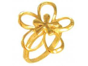 PR1246GOC pozlateny prsten z chirurgickej ocele kvet