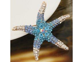 BR1103ZR morska hviezdica modra brosna