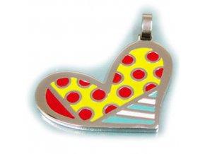 PV3233OC farebne srdce privesok z chirurgickej ocele