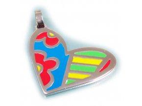 PV3234OC srdce farebny privesok z chirurgickej ocele