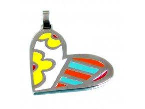 PV3236OC farebne srdce privesok z ocele